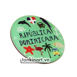Sản Xuất Nam Châm Tủ Lạnh Nhựa - Republica Dominicana, Quà tặng du lịch, Nam châm tủ lạnh