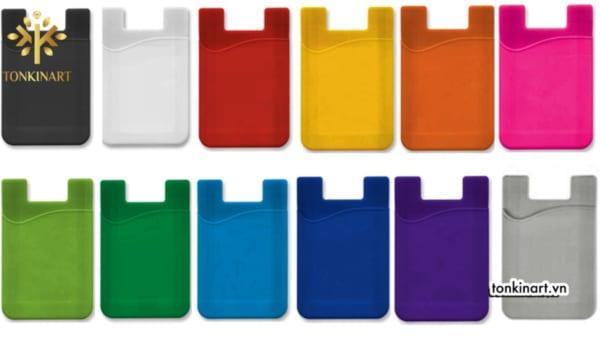 Sản xuất ví giữ thẻ hai ngăn silicone cho điện thoại