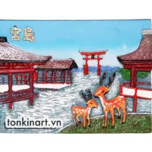 Tonkinart Nam Châm Tủ Lạnh Bột Đá đôi nai