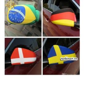 bọc gương ô tô hình lá cờ