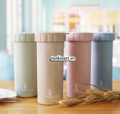bình nước lúa mạch, bình nước hữu cơ, bình nước bảo vệ môi trường