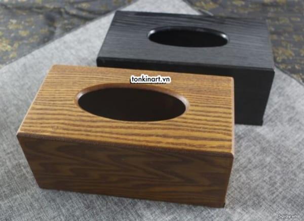 hộp giấy ăn, hộp đựng giấy ăn bằng gỗ