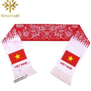 mua khăn cổ động bóng đá việt nam in hình cờ tổ quốc