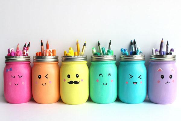 vỏ chai tái chế, lọ đựng bút