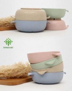 hộp cơm lúa mạch, hộp đựng cơm,dụng cụ lúa mạch, dụng cụ thân thiện với môi tường