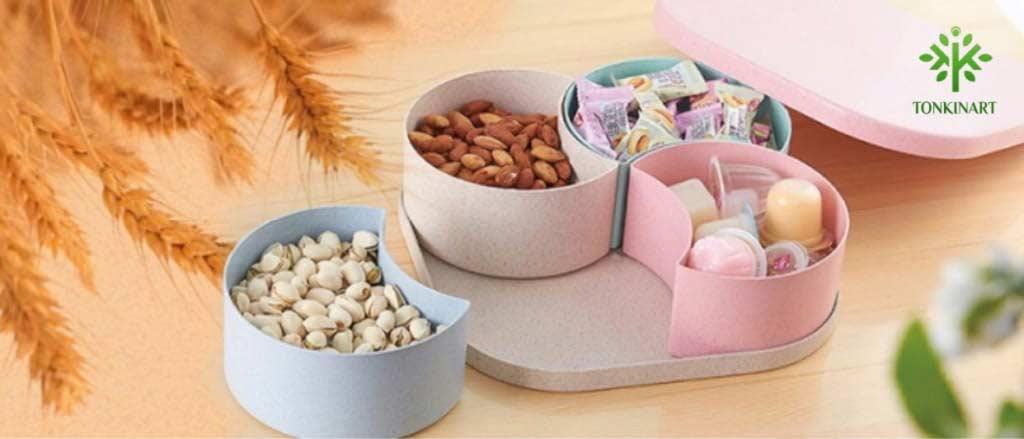 hộp đựng kẹo lúa mạch, hộp đựng kẹo tết,dụng cụ lúa mạch, dụng cụ thân thiện với môi tường