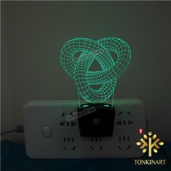 đèn led 3d ổ cắm