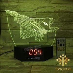 đèn led 3d đồng hồ