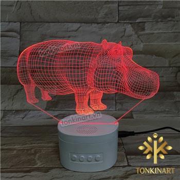 Đèn led 3D kèm loa