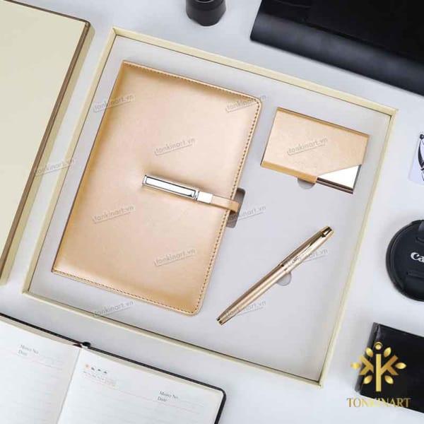 Set sổ bút hộp card