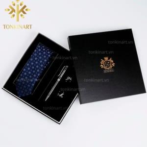 Sản xuất Set Cà vạt, Khuy măng sét, Bút bi cao cấp, quà tặng doanh nhân, quà tặng cao cấp, set quà tặng