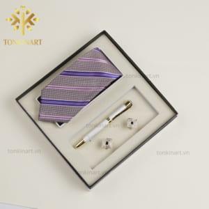 quà tặng doanh nhân, quà tặng cao cấp, set quà tặng, set cà vạt but khuy măng sét, set quà tặng nam