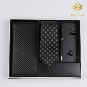 Sản xuất Set Cà vạt, Ví, Bút bi, Khuy măng set