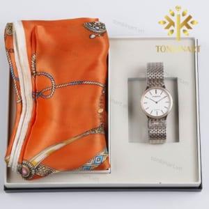 set khăn lụa đồng hồ , set quà tặng nữ, set khăn lụa, quà tặng cao cấp, quà tặng doanh nhân,