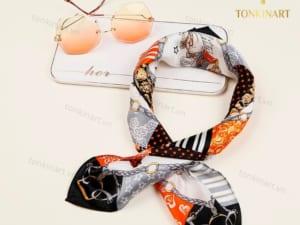 set khăn lụa kính , set quà tặng nữ, set khăn lụa, quà tặng cao cấp, quà tặng doanh nhân,