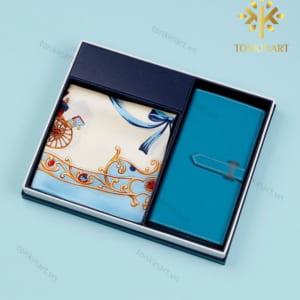 set khăn lụa ví , set quà tặng nữ, set khăn lụa, quà tặng cao cấp, quà tặng doanh nhân,