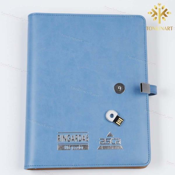 Set Sổ tay kèm USB bằng da cao cấp, sổ tay, quà tặng doanh nhân, quà tặng doanh nghiệp , quà tặng sự kiện