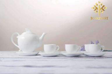 Sản xuất Bộ trà nắp lửa trắng 0.5L