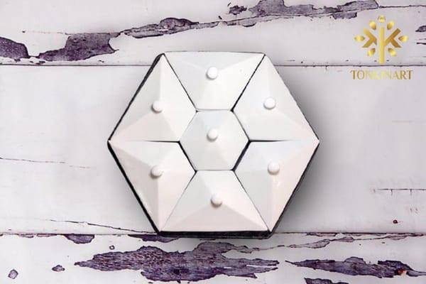 Sản xuất khay mứt Tết lục giác - Tonkin art